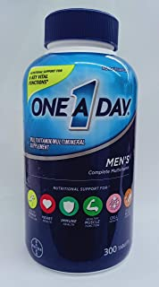 One A Day Men's Health Formula. 300 Tablets Complete Multivitamin with Lycopene Support Health Health. Immune. Heart. Healthy Blood Pressure