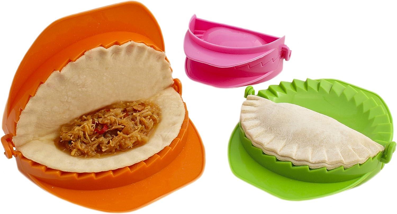 Zoie Chloe Calzone Ravioli Empanada Turnover Pierogi Dumpling Press Set 3 Piece Amazon De Home Kitchen