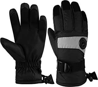 Kids Waterproof Ski Snowboard Gloves Breathable Thinsulate Lined Winter Cold Weather Gloves for Boys and Girls