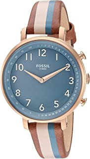 Fossil Women's Stainless Steel Hybrid Watch with Leather Strap, Multi, 14 (Model: FTW5053)