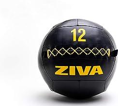 ZIVA Unisex Performance Wall Ball 12 kg, zwart/geel, One Size