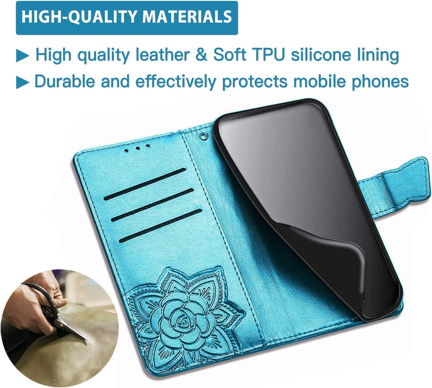 Kickstand and Book Style Protective Phone Case TOPOFU Case for Samsung Galaxy S21 Stylish PU Leather Wallet Flip Case with Card Holder Blue Magnetic Closure