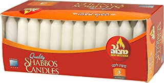 Ner Mitzvah Classic White – 4 Inch Candles - 72 Bulk Pack - for Shabbat Candles, Dinner Tables, Restaurants, Ceremonies and Emergency - 3 Hour Burn Time