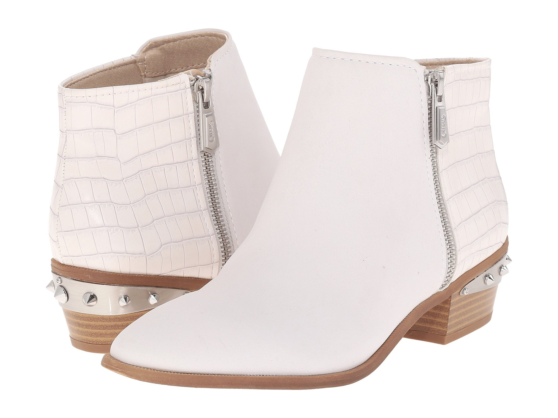 9ad86365ff19e Circus By Sam Edelman Holt In White Gobi Leather Mini Croco ...