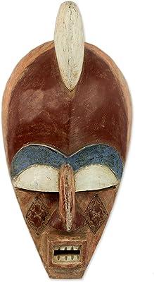 Amazon.com: NOVICA Máscara de madera de cerdo, Multicolor ...