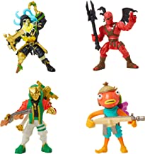 Fortnite Battle Royale Collection: Squad Pack - Blackheart, Hybrid, Master Key, Fishstick Mini Action Figures