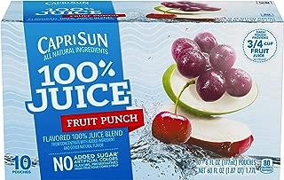 Capri Sun Fruit Punch Juice Drink (6 oz Pouches, Pack of 4)
