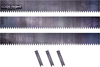 Edge Right - Hammer-in Landscape Edging - 48 inch Strips - 14-Gauge Cor-Ten Steel - 8 inch Depth (3 Pack)