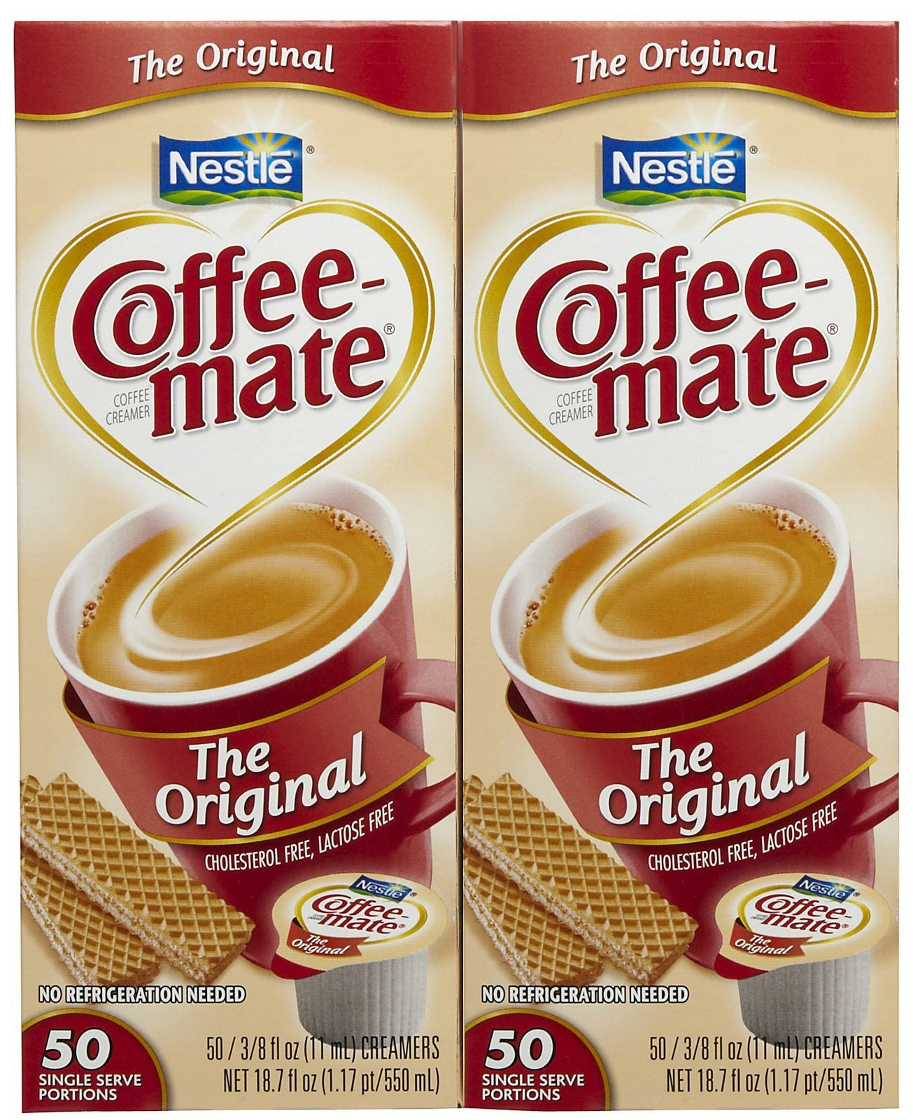 Coffee-mate Liquid Creamer Singles - Original - 50 ct - 2 pk