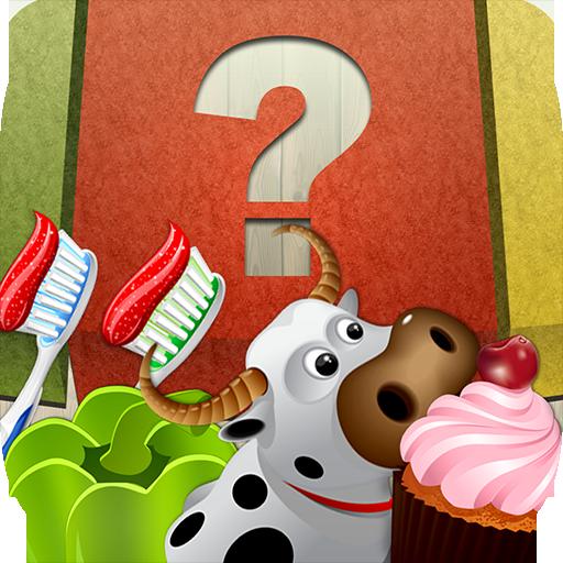 Ordenar y Aprender de juegos para niños - 100 frutas, verduras, postres, animales y objetos caseros para la clasificación