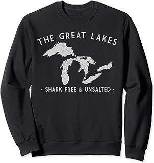 Great Lakes Sweatshirt Shark Free and Unsalted Sweat Shirt