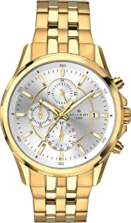 Accurist Mens Stainless Japanese Quartz Sports Chronograph With Silver Sunray Dial, Date Display, 50m Water Resistant, Fol...