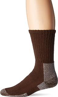TRHXM Max Cushion Trail Hiking Crew Socks, Chestnut, Large