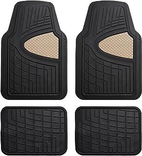 FH Group Beige F11311BEIGE Rubber Floor Mat(Heavy Duty Tall Channel, Full Set Trim to Fit)