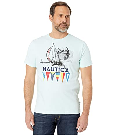 Nautica Short Sleeve Graphic Tee (Blue) Men