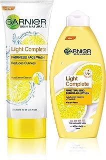 Garnier Skin Naturals Light Complete Facewash & Garnier Skin Naturals Light Lotion, 175 ml (Pack of 2)