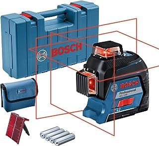 Bosch Professional linjelaser GLL 3-80 (röd laser, inomhus, arbetsområde: upp till 30m, 4x AA-batterier, i förvaringsväska)
