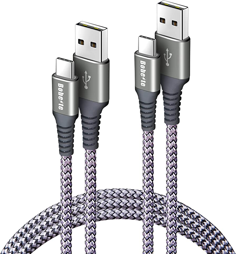 Bobeite Long USB C Cable 3M,2Pack 10ft USB C to USB A Charger Cables,Nylon Braided USB Type C Fast Charging Cable Lead for Samsung S20 Fe S10 S9 S8 S21 Plus,PS5 Controller,Galaxy Note 20 Ultra 10 9 8