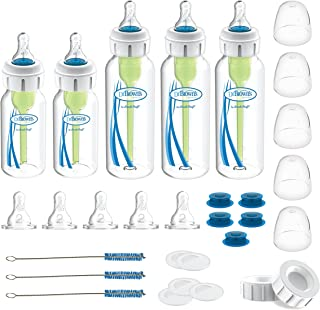 دكتور مجموعة زجاجات الرضاعة الاصلية المخصصة للتغذية المبتدئين من براونز