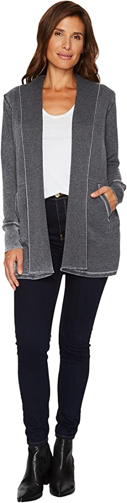 Allen Allen Long Sleeve Open Cardigan