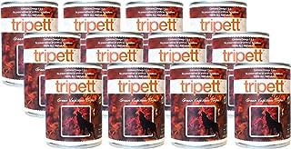 Tripett Grain-Free Canned Dog Food, 12 Cans 13 Ounces Each, Green Venison Tripe Flavor