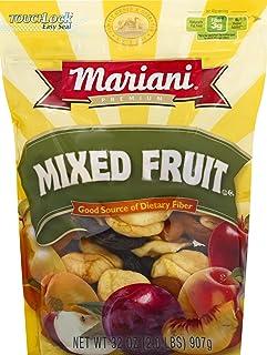 Mariani Dried Mixed Fruit - No Sugar Added, Gluten Free, Vegan, Fat Free - 32oz Resealable Bulk Bag (Pack of 2)
