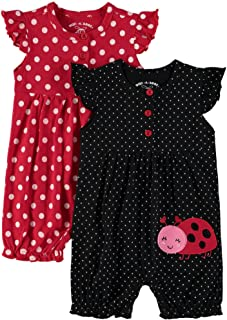 Baby Girls' Multi Pack Embroidered Sleeveless Romper