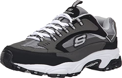 Skechers Sport Men's Stamina Nuovo Cutback Lace-Up Turnzapatos,Charcoal Cutback,8.5 XW US