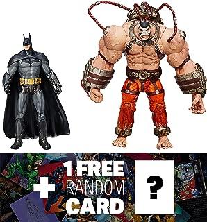 Bane vs. Batman: DC Collectibles Batman Arkham City Series + 1 FREE Official DC Trading Card Bundle