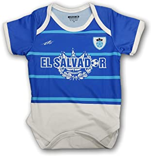 El Salvador Soccer Baby Outfit Onesie Mameluco Blue, White