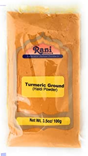 Rani Turmeric Root Powder Spice, Haldi (High Curcumin Content) 3.5oz (100g) ~ All Natural | 100% Pure, Salt Free | Vegan |...