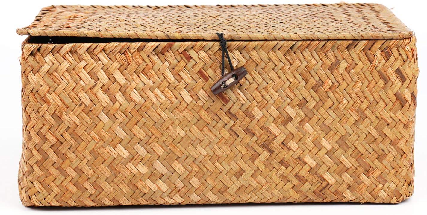 Bekith Rattankorb Seagras Aufbewahrungbox Aufbewahrungskorb mit ...