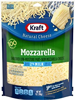 Kraft Natural Shredded Mozzarella Cheese with 2% Milk (7 oz Bag)