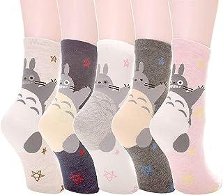 Calcetines de gato para mujer, diseño de búho Animación - Totoro Star 5pcs talla única