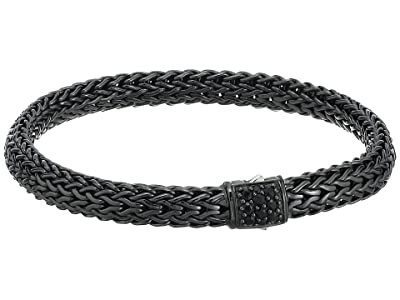 John Hardy Classic Chain 6.5mm Bracelet with Black Sapphire (Blackened Silver) Bracelet