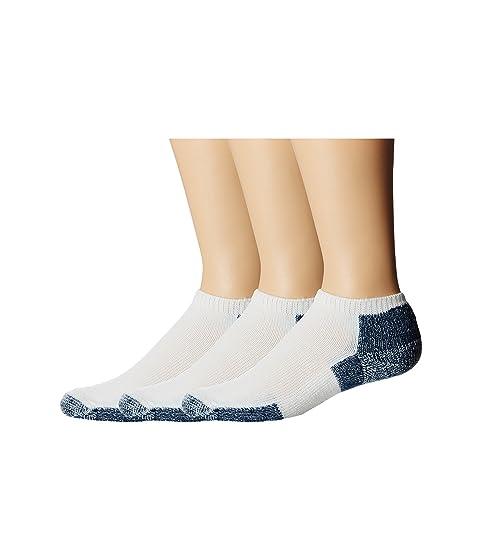 Thorlos Running Micro-Mini Crew 3-Pair Pack White/Navy Running Socks 7289273