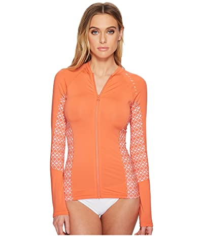 Rip Curl Trestles Long Sleeve Front Zip (Coral) Women