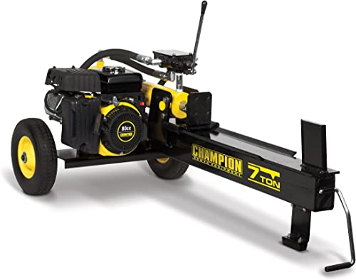 high quality CHAMPION POWER EQUIPMENT 7-Ton Compact Horizontal wholesale Gas Log Splitter online with Auto Return sale