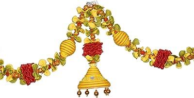 Daedal crafters- Jumka Doorway Flower toran/Hanging(Golden Yellow) DC13