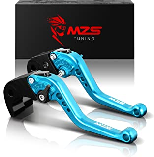 MZS Short Levers Brake Clutch CNC compatible Yamaha FZ07 FZ-07 MT07 MT-07 RM07J 2014 2015 2016 2017 2018 2019 Blue