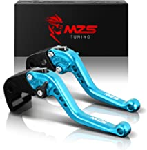 MZS Short Brake Clutch Levers Compatible with Yamaha YZF R1 R1M R1S 2015-2019| YZF R6 2017-2019 Blue