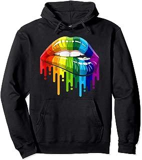 LGBT Gay Homosexual Lesbian Rainbow Lips Pride Pullover Hoodie