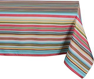 (rectangle, 300cm x 150cm ) - Design Imports Casual Rectangle Summer Stripe Outdoor Tablecloth, 300cm x 150cm , 100% Polye...