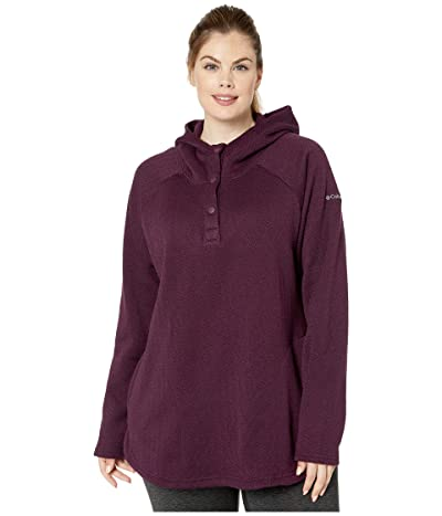 Columbia Plus Size Darling Daystm II Pullover Hoodie (Black Cherry) Women