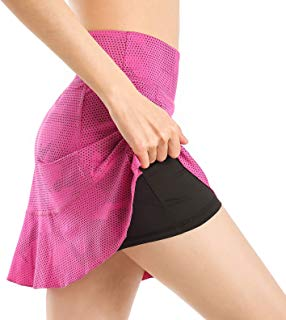 EAST HONG Women Ultra Skirt with Athletic Shorts Gym Skorts Sports Tennis Skirt