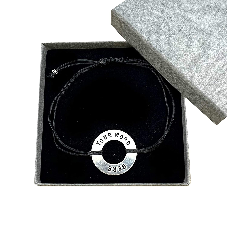 Max 54% OFF Custom Word bracelet Stamped Message Bracelet Motiva New Free Shipping