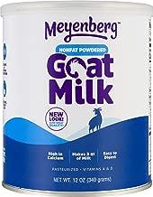 Meyenberg Nonfat Powdered Goat Milk, 12 oz, Vitamins A & D, Gluten Free, Soy Free