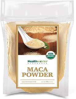 Healthworks Maca Powder Raw (16 Ounces / 1 Pound) | Certified Organic Flour Use | Keto, Vegan & Non-GMO | Premium Peruvian...