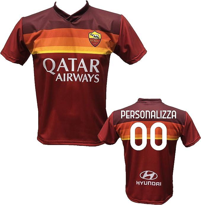 Maglia Calcio Roma Personalizzabile Replica Autorizzata 2020-2021 Taglie da Bambino e Adulto. Personalizza con Il Tuo Nome o del Tuo Giocatore ...
