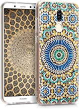 kwmobile Case for Huawei Mate 10 Lite - TPU Silicone Crystal Clear Back Case Protective Cover IMD Design - Blue/Orange/Turquoise